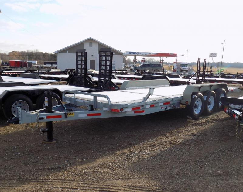 "New Galvanized 83"" x 22' Triple Axle Tilt Deck Equipment Trailer - Corrosion Resistant"