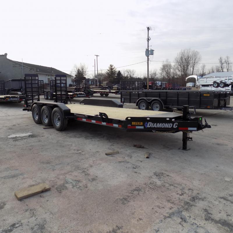 "New Diamond C Trailers 82"" x 20' Triple Axle Equipment Trailer For Sale W/ 24K Weight Rating! $0 Down & Payments from $114/mo. W.A.C."