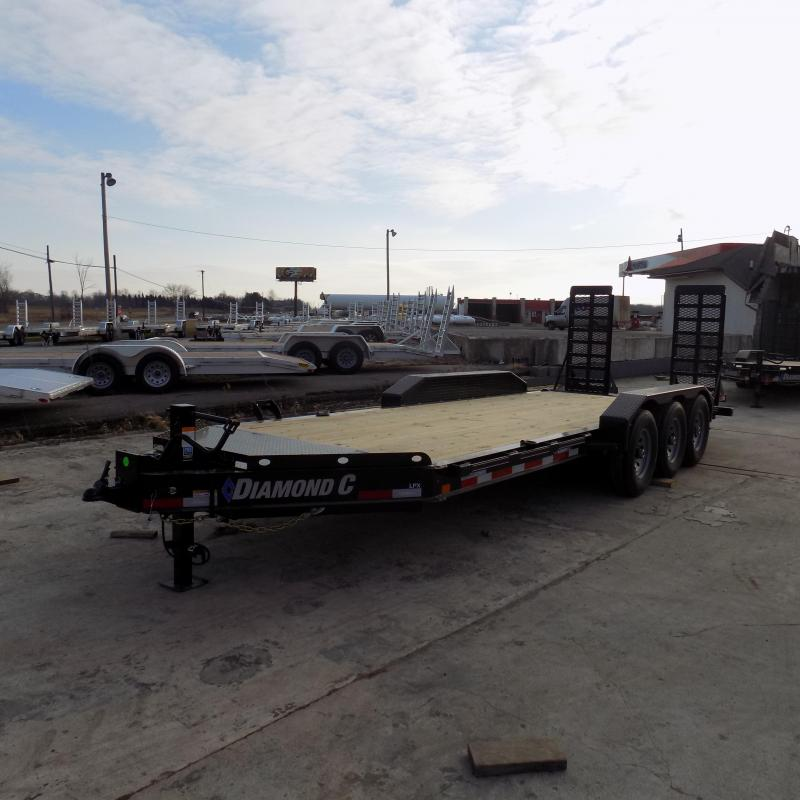 """New Diamond C Trailers 82"""" x 20' Triple Axle Equipment Trailer For Sale W/ 24K Weight Rating! $0 Down & Payments from $114/mo. W.A.C."""