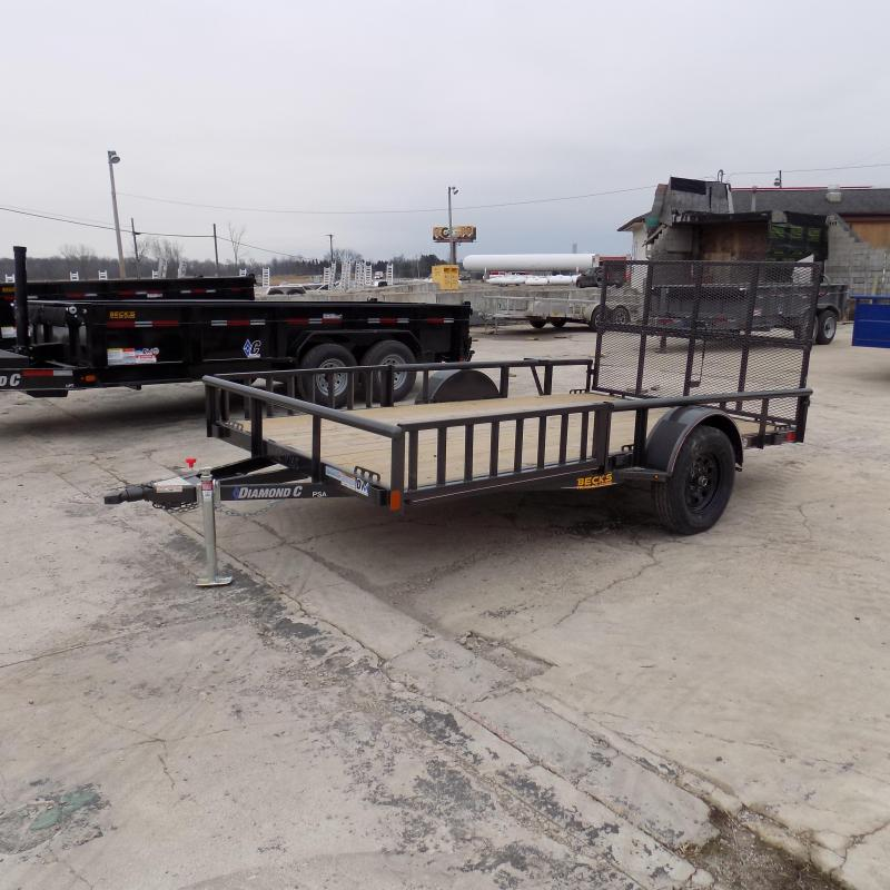 "New Diamond C 83"" x 12' Utility Trailer With Side Load Ramps - $0 Down Financing Available - Best Deal Guarantee"