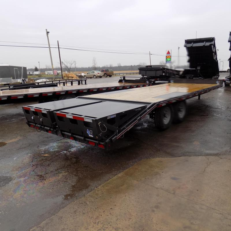 """New Diamond C Trailers 102"""" x 24' Deckover Equipment Trailer With Max Ramps - Payment From $125/mo. With $0 Down W.A.C."""