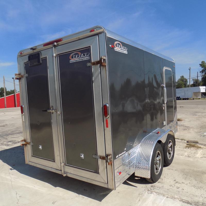 Used Legend Deluxe 7' x 15' Aluminum Enclosed Cargo Trailer For Sale
