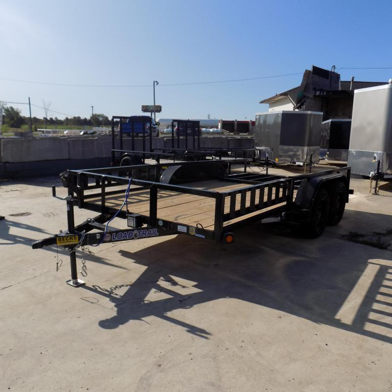 """New Load Trail 83"""" x 14' Utility Trailer w/ Rear Ramp and Side Ramps"""