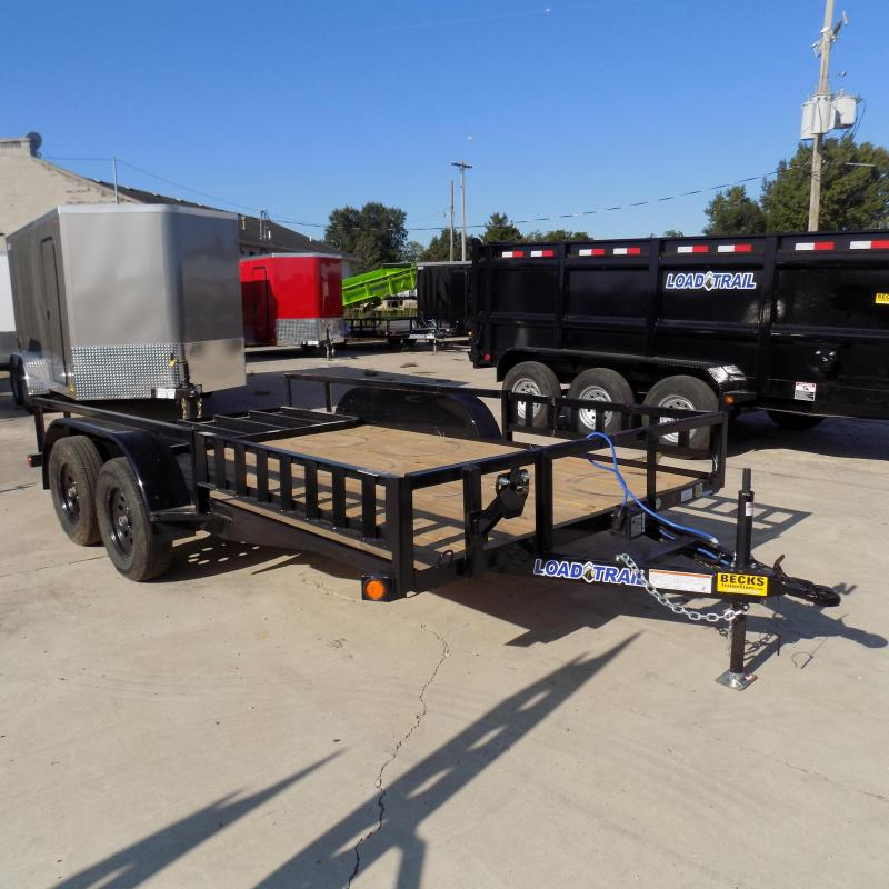 "New Load Trail 83"" x 14' Utility Trailer w/ Rear Ramp and Side Ramps"