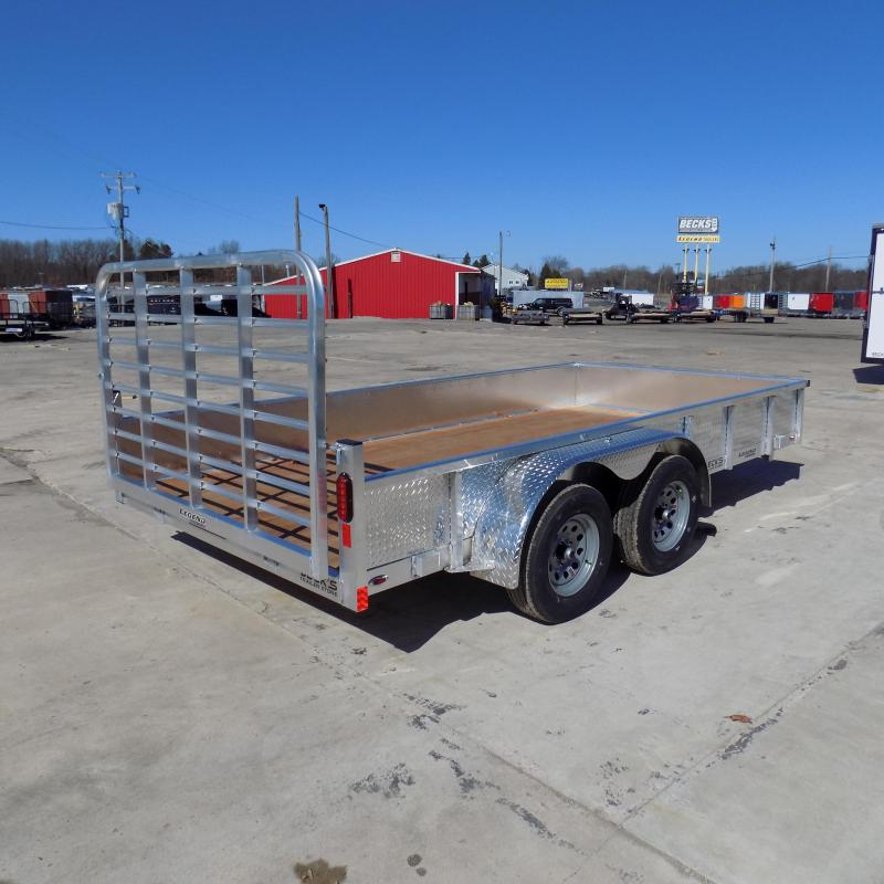 New Legend Open Deluxe 7' x 14' Aluminum Utility With Bi-Fold Gate - $0 Down & Payments From $89/mo. W.A.C.