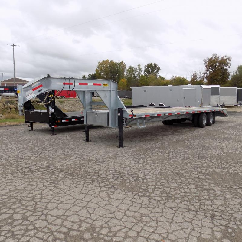 """Used 2019 Galvanized 102"""" + 34' Gooseneck Equipment Trailer - Like New With Less Than 200 Miles!"""