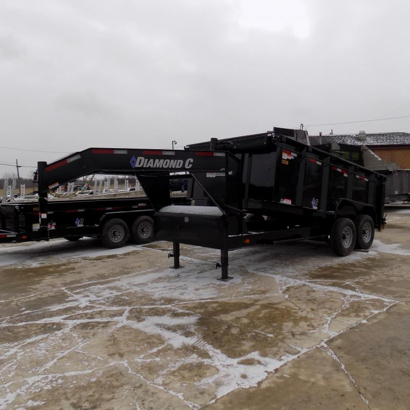 "New Diamond C 82"" x 14' Low Pro Gooseneck Dump Trailer W/ Telescopic Lift - $0 Down & Payments from $159/mo. W.A.C."