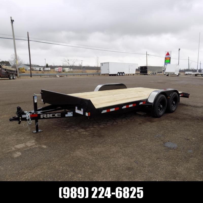 "New Rice Trailers 82"" x 18' Open Car Hauler With 5200# Axles"