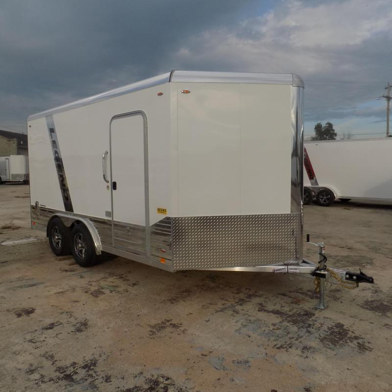 New Legend Deluxe V-Nose 8' x 17' Enclosed Cargo Trailer With Finished Interior