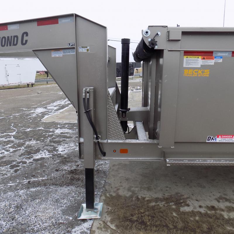 "New Diamond C 82"" x 14' Low Pro Gooseneck Dump Trailer W/ Telescopic Lift - $0 Down & Payments from $199/mo. W.A.C."