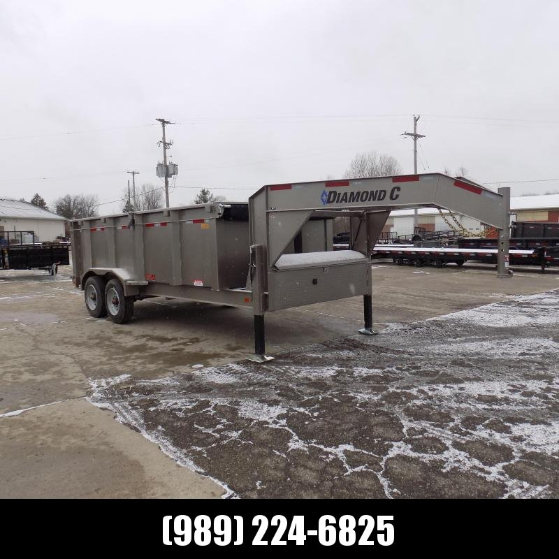 "New Diamond C 82"" x 16' Low Pro Gooseneck Dump Trailer W/ Telescopic Lift - $0 Down & Payments from $199/mo. W.A.C."