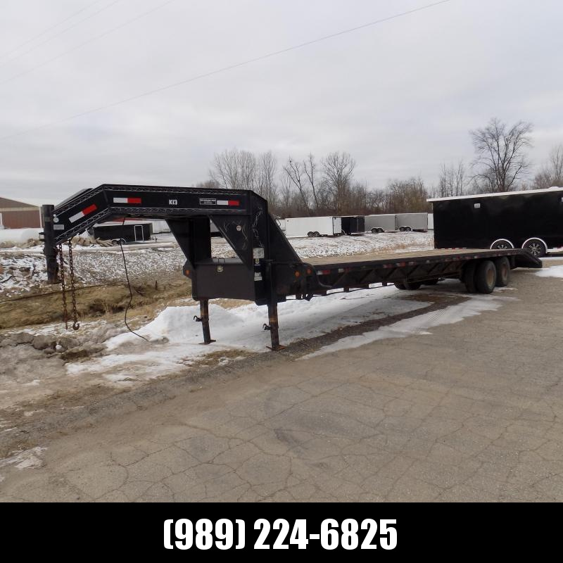 """Used Load Trail 102"""" x 36' Gooseneck Equipment Trailer For Sale"""