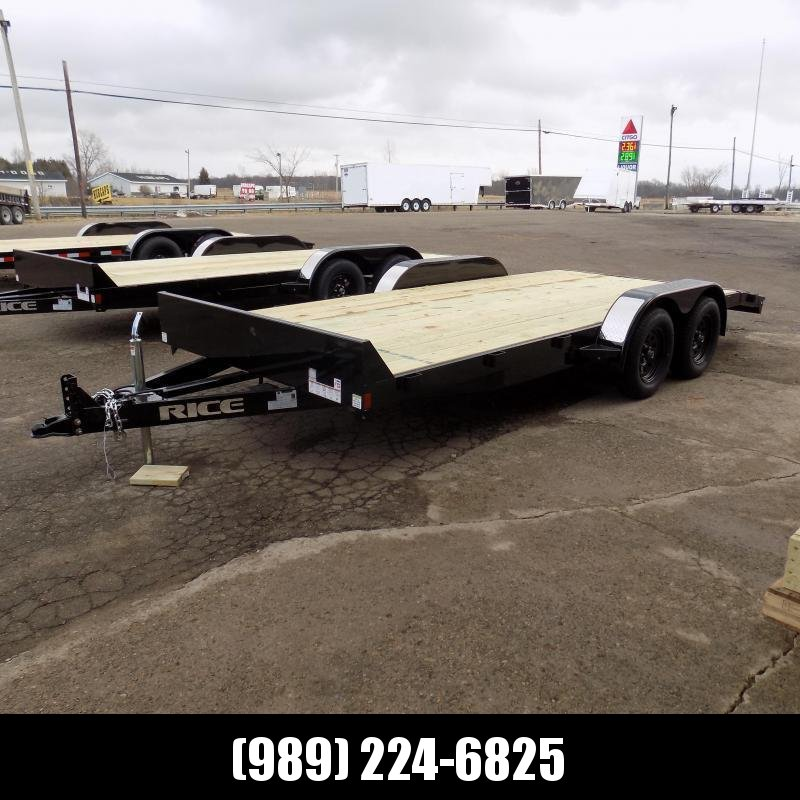 """New Rice Trailers 82"""" x 18' Open Car Hauler - Payments from $69/mo. W.A.C - Best Deal Guarantee"""