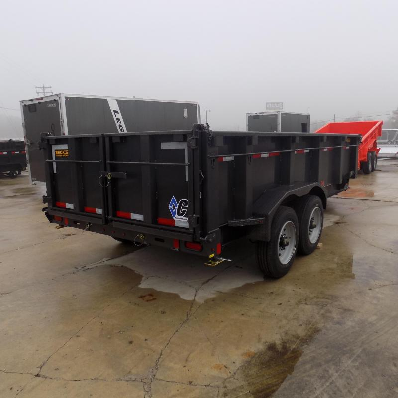"New Diamond C Trailers 82"" x 16' Low Profile Dump Trailer W/ 10K Axles & Telescopic Lift - Payments from $175/mo. with $0 Down W.A.C."