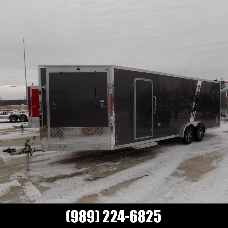 New Legend Explorer 7.5' x 27' Snowmobile Trailer - New 7.5' Wide Model Has NO Interior Wheel Wells! Flexible Financing Options Available