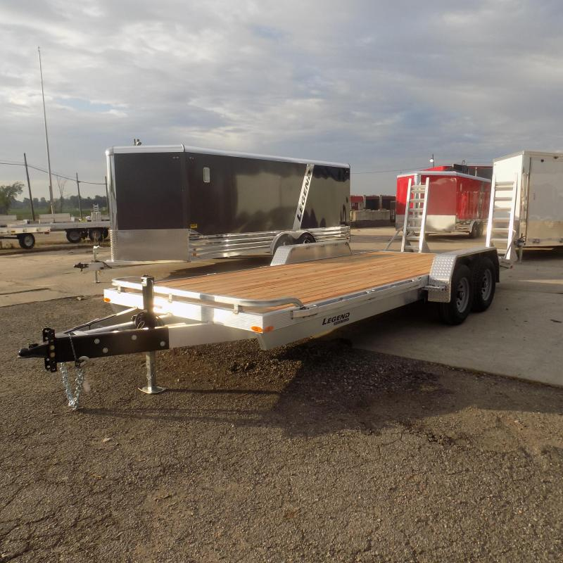 New Legend 7' x 20' Aluminum Equipment Trailer For Sale - Payment from $115/mo. W.A.C - Best Deal Guarantee