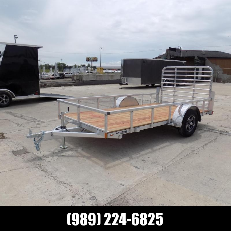 New Legend Open Deluxe 6' x 12' Aluminum Utility Trailer for Sale- $0 Down Payments from $60/Mo W.A.C.