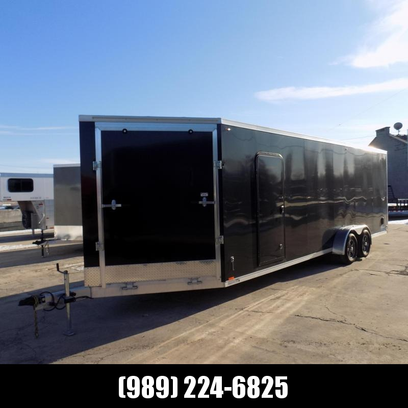 Used Legend Thunder 7' x 29' Aluminum Snowmobile Trailer For Sale - Great Shape!!!
