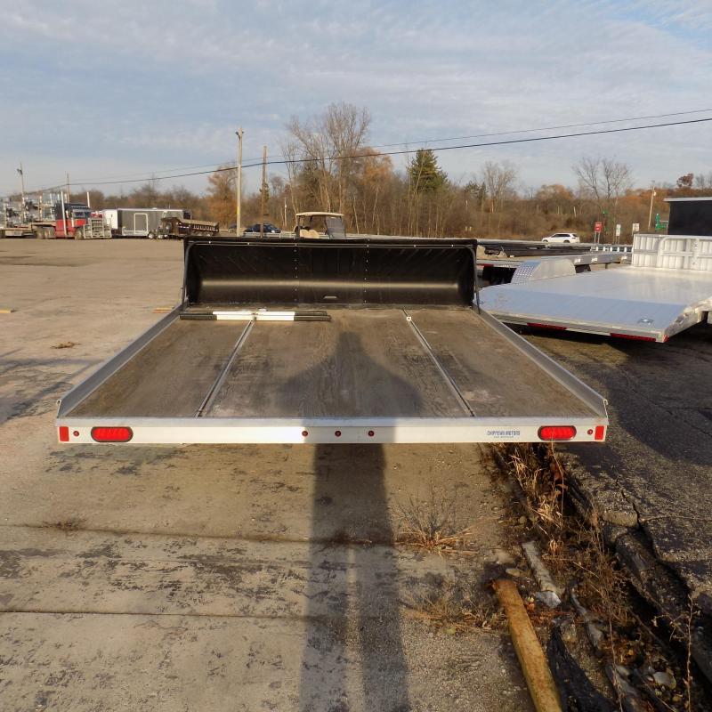 "Used 2018 Aluma 101"" x 10' Tilt Deck Snowmobile Trailer - Great Shape!"