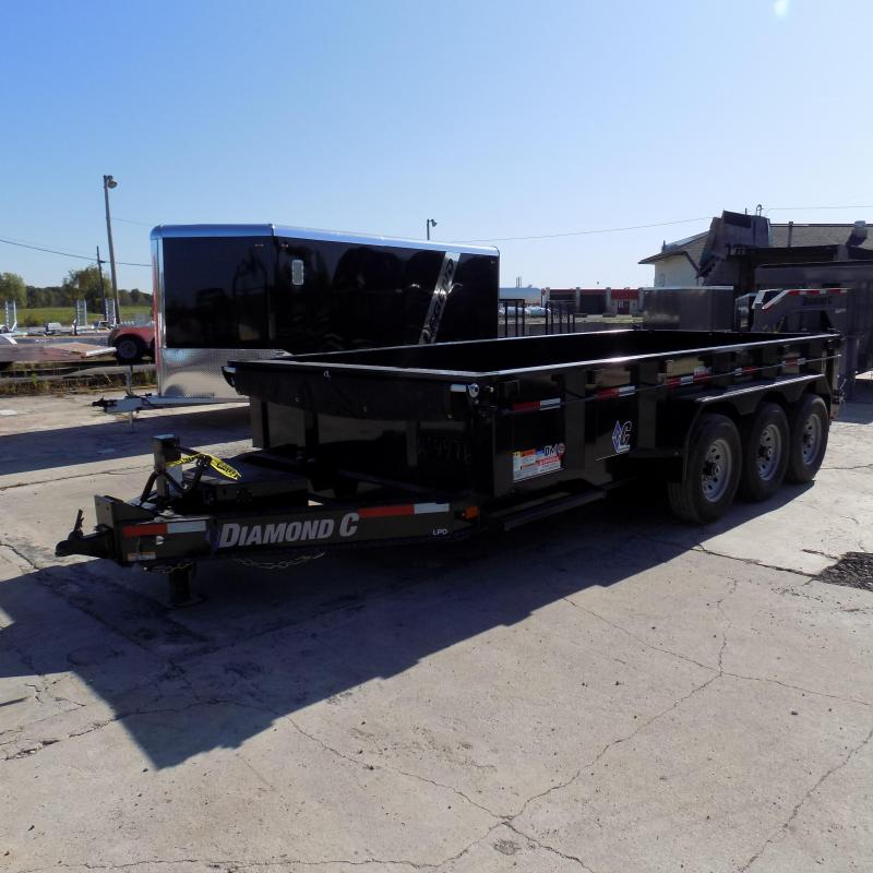 """New Diamond C 82"""" x 16' Low Pro Triple Axle Dump Trailer - 24K Weight Rating - Payments From $155/mo. W.A.C."""