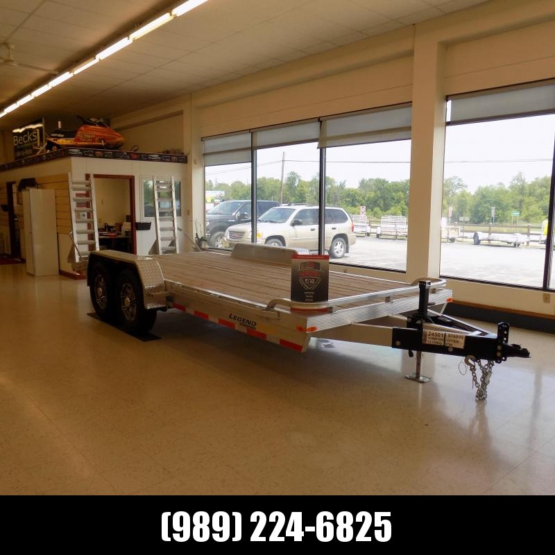 New Legend 7' x 18' Aluminum Equipment Trailer With Nearly 12K Payload Capacity - $0 Down & Payments from $135/mo. W.A.C.