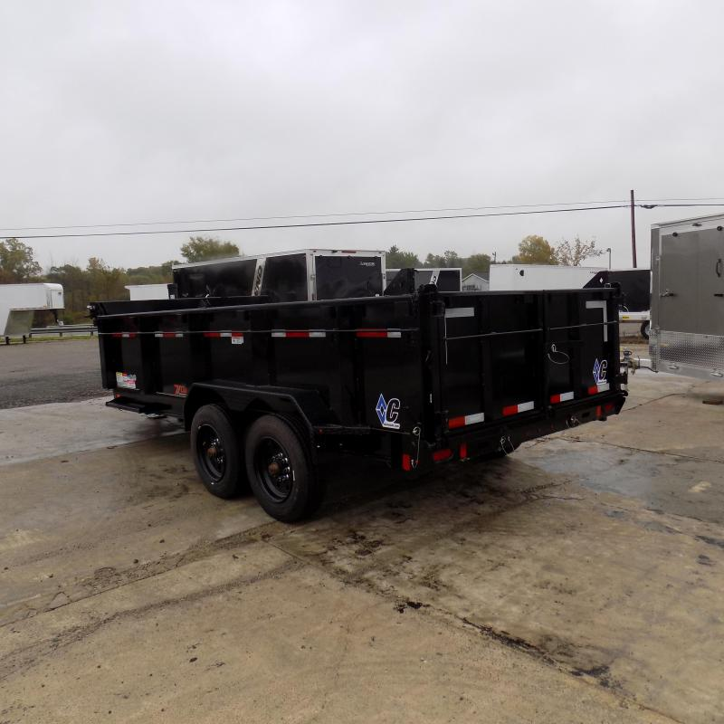 """New Diamond C Trailers 82"""" x 16' Low Profile Dump Trailer W/ 10K Axles - Payments from $175/mo. with $0 Down W.A.C."""