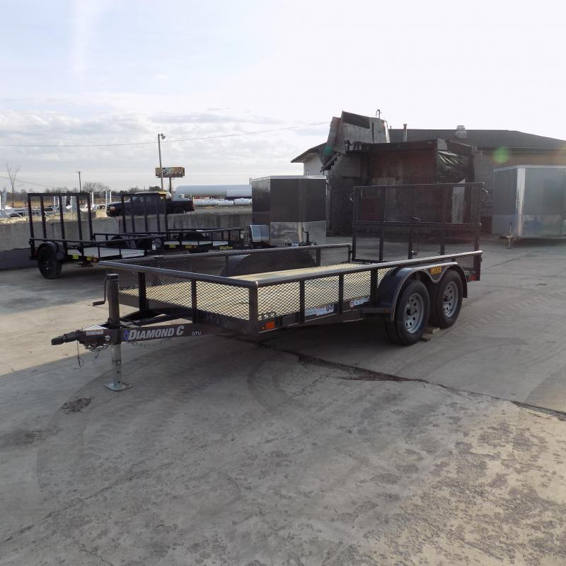 "New Diamond C Trailers 83"" x 14' Open Utility Trailer w/ Bi-Fold Rear Gate - Payments from $79/mo. W.A.C."