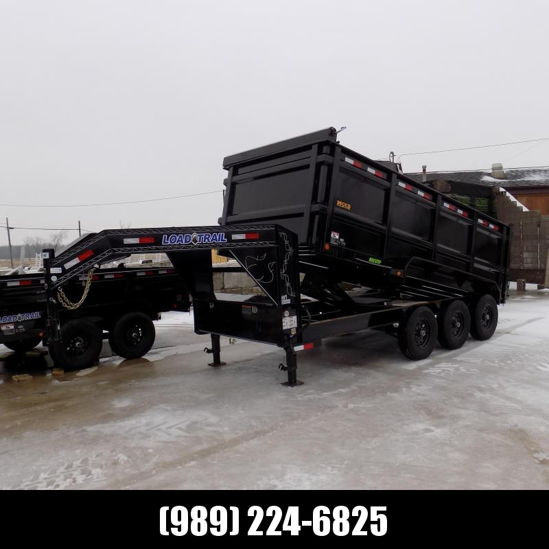 "New Load Trail 83"" X 16' Triple Axle Gooseneck Dump Trailer-$0 down payments from $139/mo w.a.c."