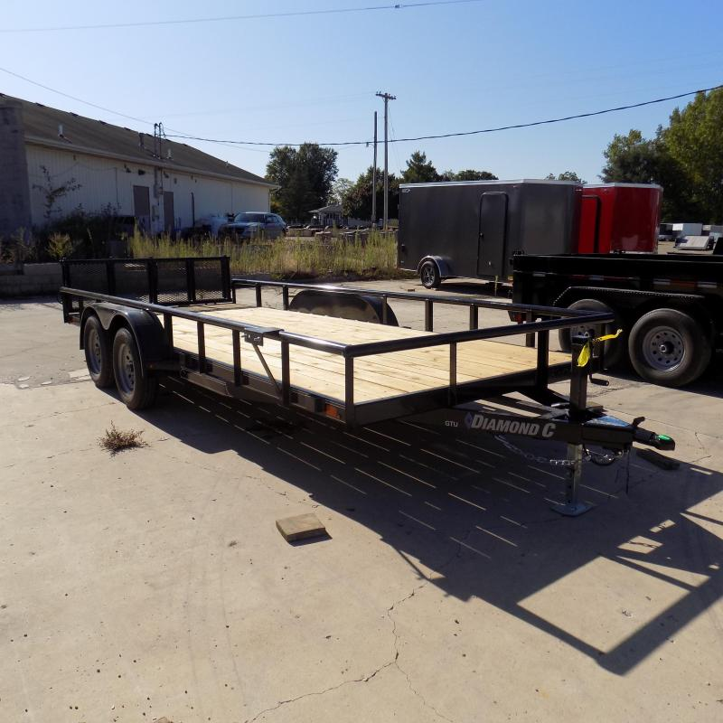 "New Diamond C Trailers 83"" x 18' Open Utility Trailer w/ Bi-Fold Rear Gate - Payments from $79/mo. W.A.C."
