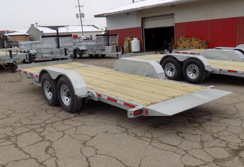 "New Galvanized 81"" x 20' Tilt Deck Equipment Trailer - Corrosion Resistant - $0 Down & Payments From $109/mo. W.A.C."