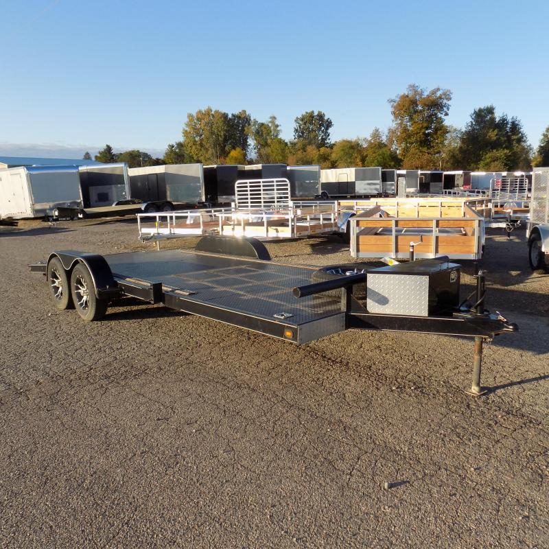 """Used JRC 82"""" x 20"""" Open Car Hauler With Steel Deck"""