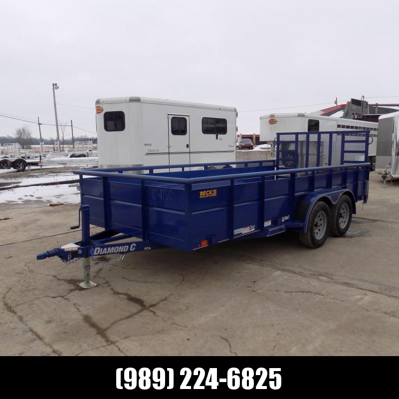 "New Diamond C 83"" x 16' High Side Utility Trailer - $0 Down & Payments From $103/mo. W.A.C. - Best Deal Guarantee!"