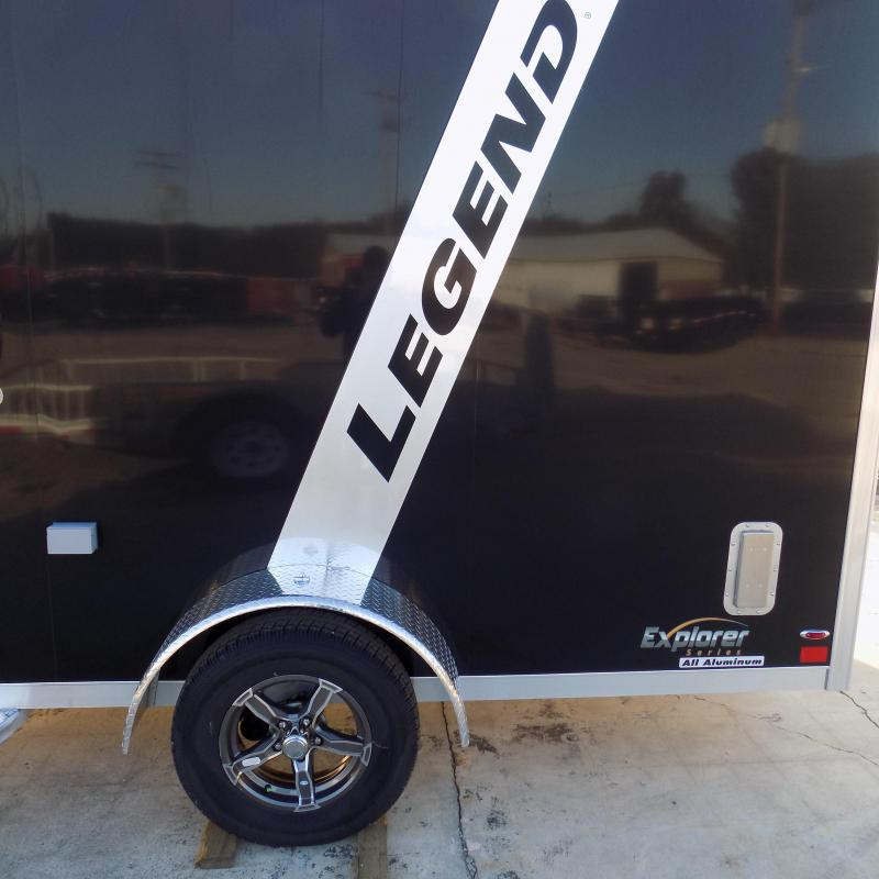 New Legend Trailers Explorer 7' x 19' Aluminum Snowmobile Trailer - Payments From $123/mo. with $0 Down W.A.C.