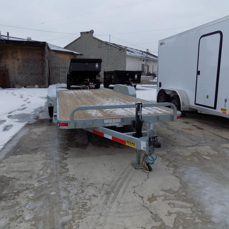 "New Galvanized EC5 83"" x 20' Open Car Hauler - No Rust"
