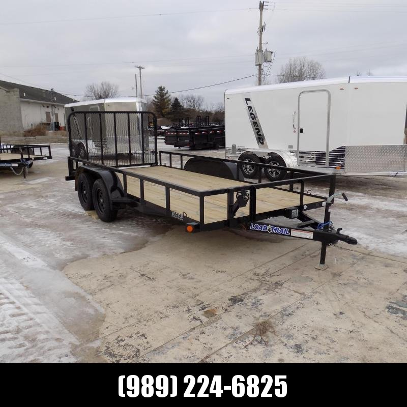 "New Load Trail 83"" x 16' Tandem Axle Open Utility Trailer for Sale - $0 Down & Payments $69/mo. W.A.C"