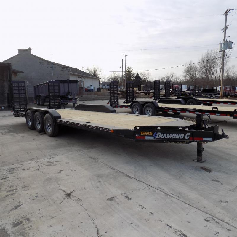 "New Diamond C Trailers 82"" x 24' Triple Axle Equipment Trailer For Sale W/ 24K Weight Rating! $0 Down & Payments from $129/mo. W.A.C."