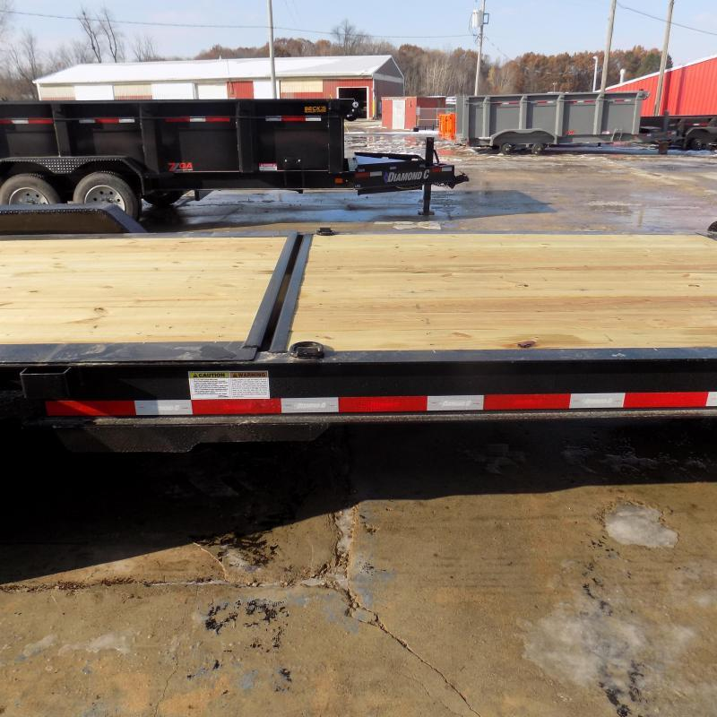 "New Diamond C Trailers 82"" x 24' Heavy-Duty Tilt Deck Equipment Trailer - 10K Axles - $0 Down & Payments from $151/mo. W.A.C."