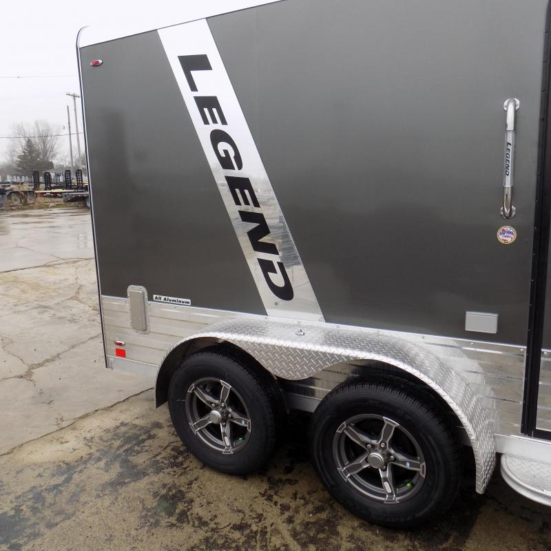 New Legend Deluxe V Nose 7' X 15' All Aluminum Cargo Trailer For Sale - $0 Down & Payments from $118/mo. W.A.C.