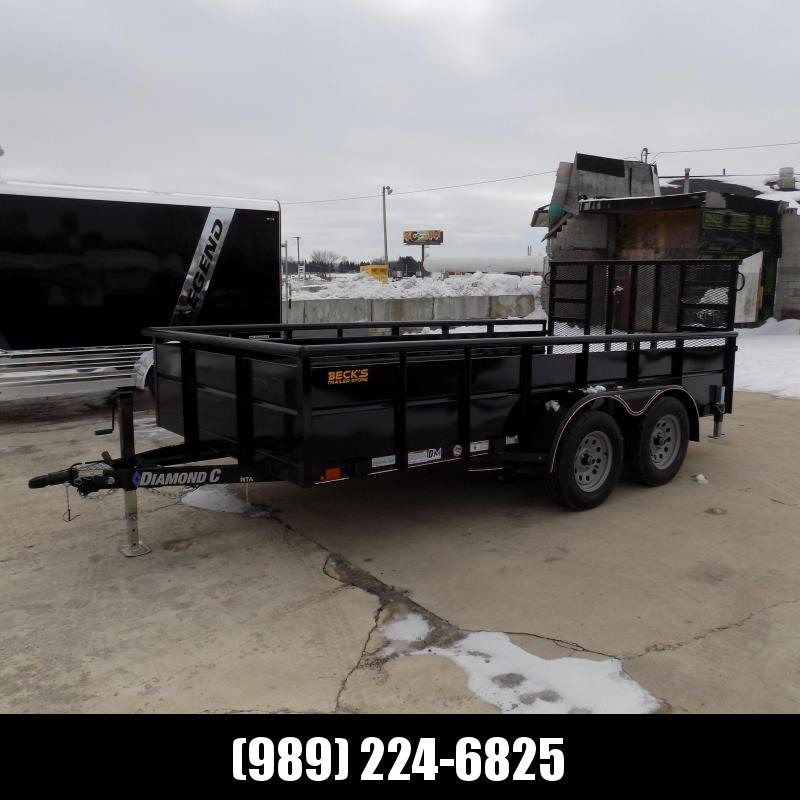 """New Diamond C 83"""" x 14' High Side Utility Trailer - $0 Down & Payments From $103/mo. W.A.C. - Best Deal Guarantee!"""