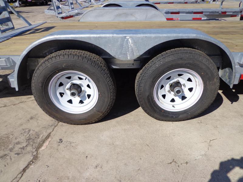 "New Galvanized 83"" x 18' Car/Equipment Trailer - Corrosion Resistant"