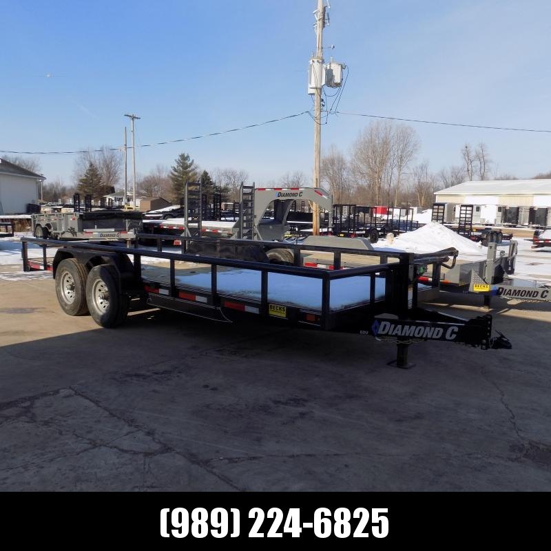 "New Diamond C 82"" x 20' Extreme Duty Utility Trailer w/ 7K Axles - $0 Down & Payments From $123/mo. W.A.C."