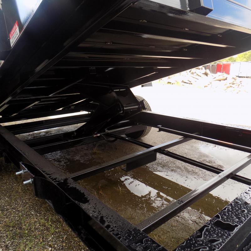 """New Diamond C 82"""" x 14' Low Profile Dump Trailer W/ Torsion Axles & 32"""" Sides"""