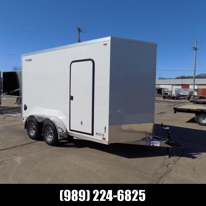 New Legend Thunder V Nose 7' X 14' Aluminum Enclosed Cargo Trailer For Sale- $0 Down Payments From $111/mo W.A.C
