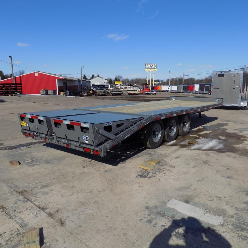 "New Diamond C Trailers 102"" x 24' Triple Axle Deckover Equipment Trailer W/ Max Ramps - $0 Down & Payments From $119/mo. W.A.C."