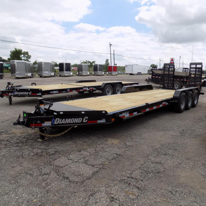 "New Diamond C Trailers 82"" x 24' Triple Axle Equipment Trailer - 24K Weight Rating"