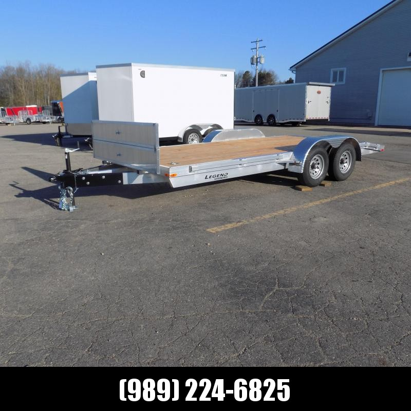 New Legend 7' x 18' Aluminum Open Car Hauler With 5200# Torsion Axles - $0 Down Financing Available