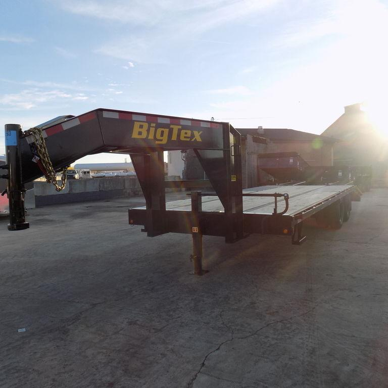 "New Big Tex 102"" x 20' + 5' Gooseneck Equipment Trailer"