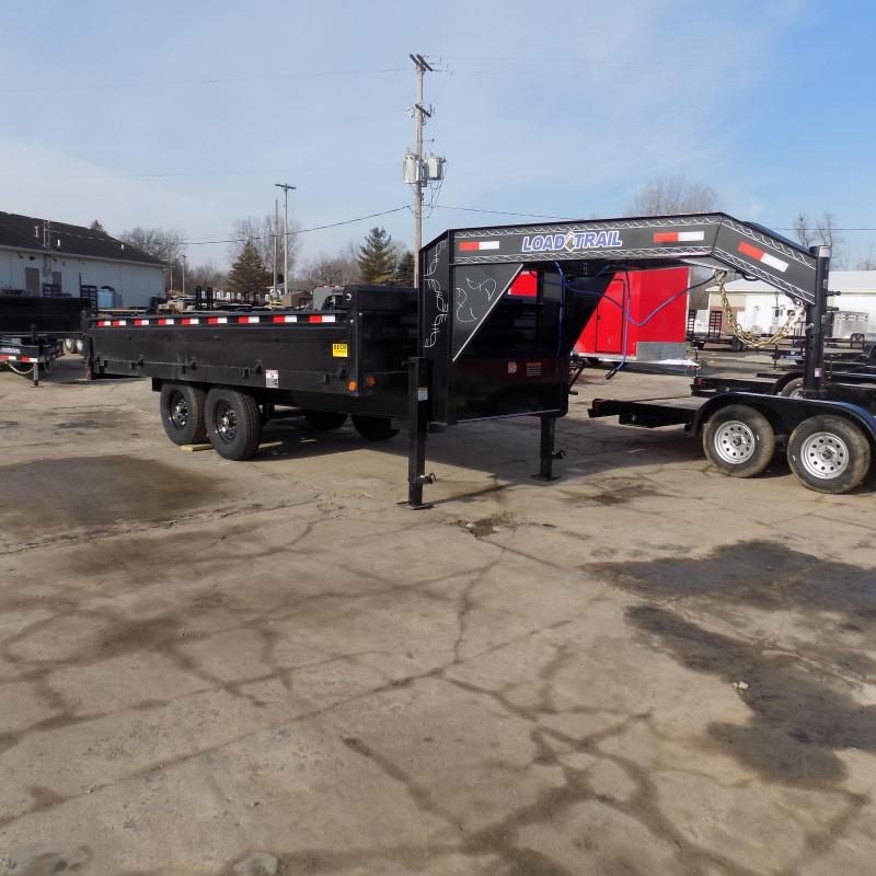 "New Load Trail 96"" x 16' Gooseneck Deckover Dump Trailer  - $0 Down & Payments From Payments From $139/mo. W.A.C."