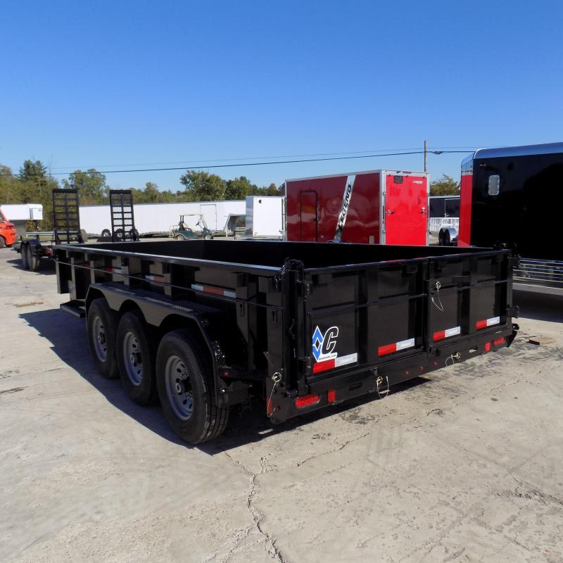 "New Diamond C 82"" x 16' Low Pro Triple Axle Dump Trailer - 24K Weight Rating - $0 Down & Payments From $165/mo. W.A.C."