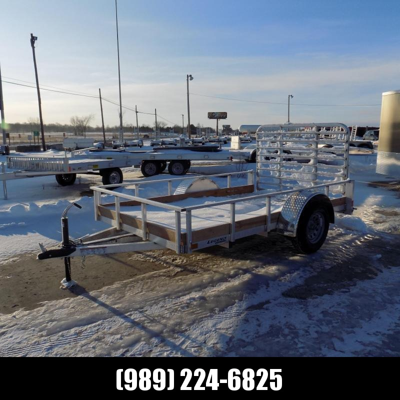 New Legend 6' x 10' 3 Board High Side Aluminum Utility Trailer- $0 Down Payment From $52/mo W.A.C